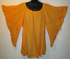Halloween Party Top Fit 2X 3X 4X Plus Long Tunic Orange Bell Sleeves A Shape 696