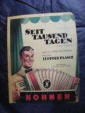 Partition Seit Tausend tagen Leopold Paasch 1943 Music Sheet