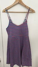 "VOLCOM- ""Go Lightly"" Pink and Blue Striped Dress- Size S NWT"