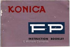 Instruction Book for Konica FP 35mm Camera More User Guides and Manauls Listed