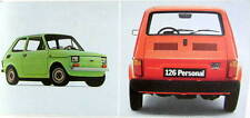 FIAT 126 PERSONAL 4 MOTEUR 594 CM3 23 CV  CATALOGUE 12 PAGES