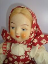 BAMBOLA RUSSIA VINTAGE SOVIETIC DOLL RUSSIAN HARD PLASTIC pupazzo poupee muneca