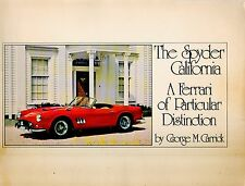 Car Book--The Spyder California signed  by George Carrick 1976-----225