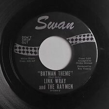 "Rockabilly instrumental 45 LINK WRAY ""Batman Theme"" orig '66 SWAN nice HEAR"