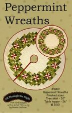 PEPPERMINT WREATHS QUILTING PATTERN, Tree Skirt or Table Topper Pattern NEW
