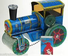 KOVAP ROAD ROLLER TIN TOY SEE VIDEO  RETRO TOY CLOCKWORK WIND UP CZECH TOY