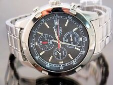 Seiko Watch Men's Chronograph 1/10 Second with Date 100 Meters Water Resist NICE