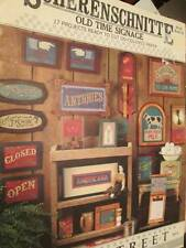 Scherenschnitte Old Time Signage Paper Craft Booklet-Open/Closed/Welcome/Antique