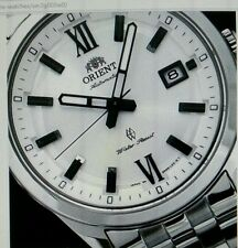 BRAND NEW ORIENT STINGRAY AUTOMATIC WATCH  WHITE COLOR DIAL.(free gift watches)