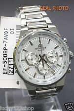 EF-500BP-7A White Casio Stainless Steel Band Watch Edifice 100M Date Day Analog