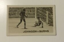 Boxe carte rocket's famous k.o. jack johnson vs tommy burns (1923)