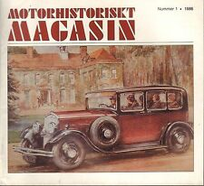 Motorhistoriskt Magasin Swedish Car Magazine #1 1986 Kungsgatan '67 031617nonDBE
