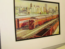 Pennsylvania Railroad  artist Grif Teller 1954 Railroad Archives Museum