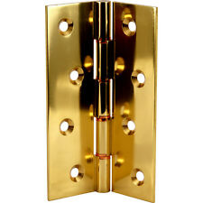 NEW 4 X Double Phosphor Bronze Washered Hinge Brass 102 x 67mm 2 Pack FreePost