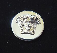 """GIANNI VERSACE MEDUSA HEAD GOLD METAL BUTTON Approximately .9"""" / 23MM"""