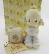 Precious Moments Figurine E-0404 Join in on the Blessings 1984 Membership Symbol