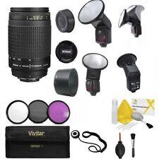 Nikon Nikkor 70-300mm F/4-5.6 G + PRO SWIVEL BOUNCE LED FLASH + FILTERS KIT +KIT