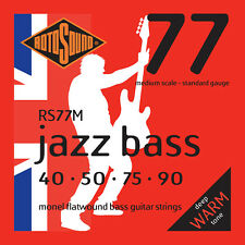 ROTOSOUND RS77M MONEL FLATWOUND BASS STRINGS, MEDIUM SCALE, STND. 4's - 40-90