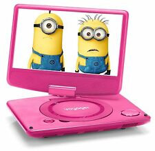 Voyager 7 inch Swivel Screen Portable DVD Player Pink (Multi Region)