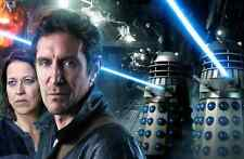 """Doctor Who UK Imported 17"""" X 11"""" Dark Eyes - 8th Doctor With Daleks Print"""