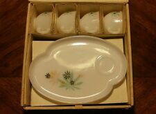 Vintage Dishes Federal Glass Company Antique Patio Snack Set In Original Box