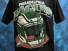 vintage 90s PHILADELPHIA EAGLES T-Shirt LARGE football helmet nfl super soft NOS