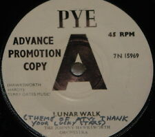 JOHNNY HAWKSWORTH ~ LUNAR WALK THANK YOUR LUCKY STARS ~ RADIO CAROLINE ~ DEMO 7""