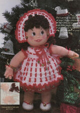 "Crochet Doll Pattern Only, complete with outfit- measures 16-18"" when complete"