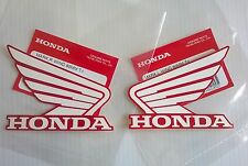 Honda  Wing Fuel Tank Decal Wings Sticker 2 x 80mm WHITE & RED 100% GENUINE