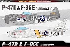 """Academy 1/72 Republic P-47D & North American F-86E """"Gabreski"""" # 12530"""