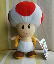 "Toad Mushroom from Super Mario Bros  8"" plush soft toy BNWT New"