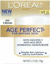 L'Oreal Age Perfect Day Cream for Mature Skin with Soy Proteins, SPF 15, 2.5 Oz
