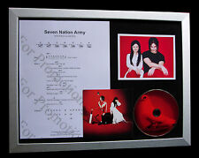 WHITE STRIPES Seven Nation Army LTD QUALITY CD FRAMED DISPLAY+FAST GLOBAL SHIP
