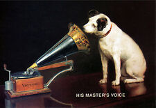 Art Poster - HMV His Masters Voice - Dog  A3 Print