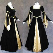Medieval Renaissance Gown Dress Costume Goth Wedding L