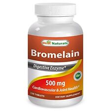 Best Naturals Bromelain 500mg 120 Tablets - Proteolytic Digestive Enzymes Supple