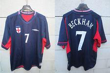 VINTAGE Maillot ANGLETERRE ENGLAND Umbro BECKHAM 7 away shirt football XL jersey