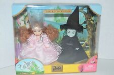 2003 KELLY WIZARD OF OZ GLINDA AND WICKED WITCH BARBIE DOLL NEW NRFB