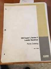Case 590 Super L Series 2 Loader Backhoe Parts Catalog, Bur 7-6632