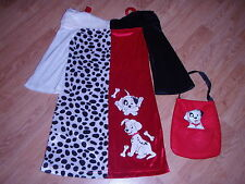 Disney CRUELLA DE VIL Girls DRESS XS 4 101 Dalmatians HALLOWEEN COSTUME