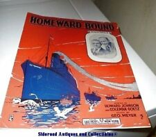 Homeward Bound Johnson Goetz Meyer WWI Sheet Music 1917 Free Ship VGUC
