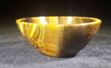 NATURAL TIGER EYE STONE HAND CARVED GEMSTONE BOWL [13]