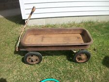 Vintage Sears Toy Red Wagon - Heavy Steel Construction