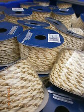 12 Reels of 10 Metres 4mm Cream/Gold Twisted Cord