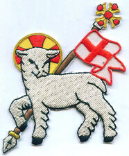 Holy Spirit Lamb Agnus Dei In Hoc Templar Church Chrisitain Vestment Stole Patch