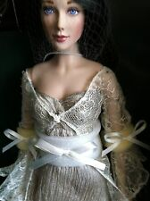 "Franklin Mint 16""Vinyl Doll in Gown LAUREL Empress of the Elves w/Stand+COA NRFB"
