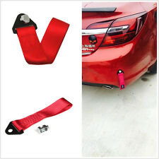 High Strength Racing Tow Towing Strap Hook Rope Front Rear Bumper FOR Truck Car