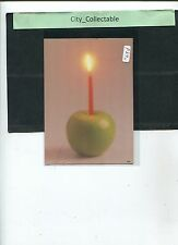 P390 # MALAYSIA USED PICTURE POST CARD * CANDLE ON APPLE