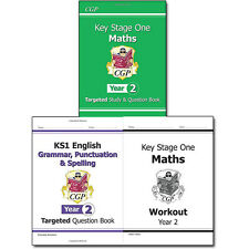 CGP Books KS1 New Curriculum Year 2 Collection 3 Books Set Maths ,English NEW