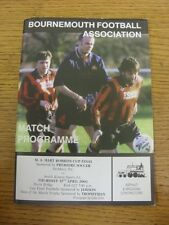 12/04/2001 Bournemouth Robbins Cup Final: Parkbury v South Kinson Sports [At Chr